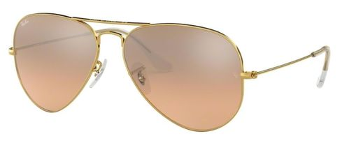 Ray Ban Damensonnenbrille RB3025 AVIATOR LARGE METAL 001/3E